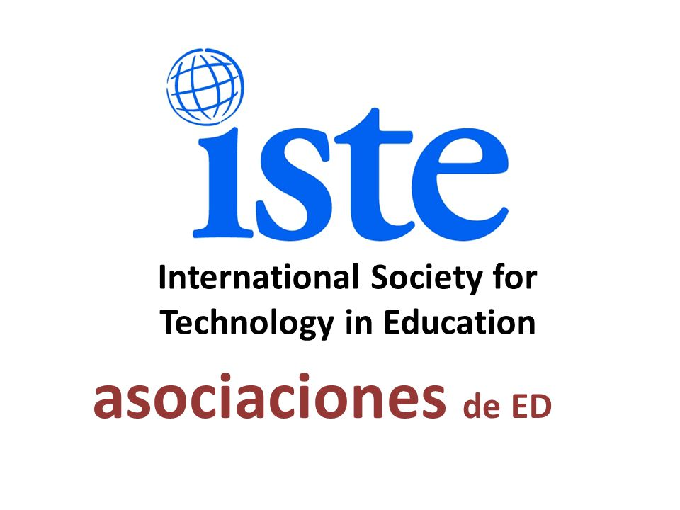 asociaciones de ED International Society for Technology in Education