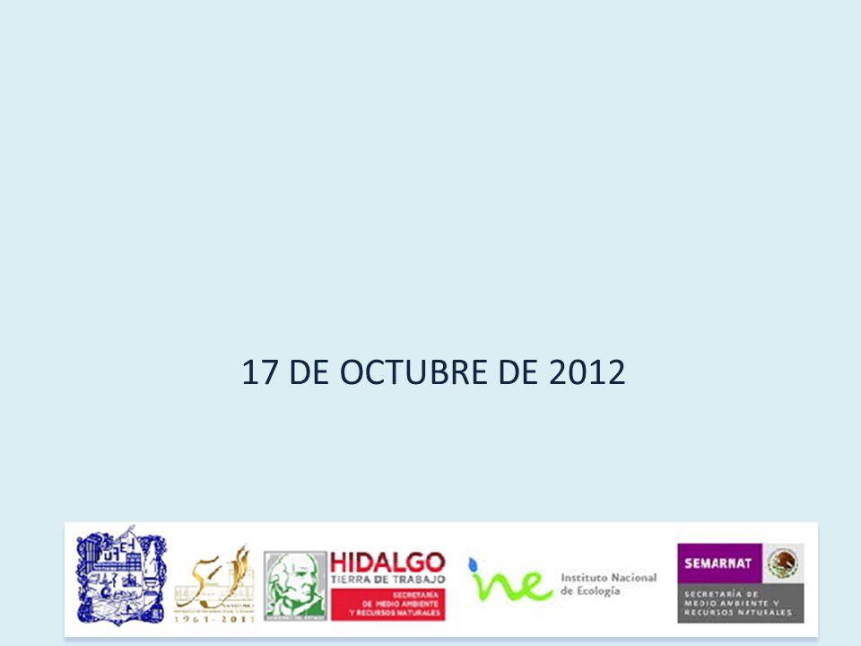 17 DE OCTUBRE DE 2012
