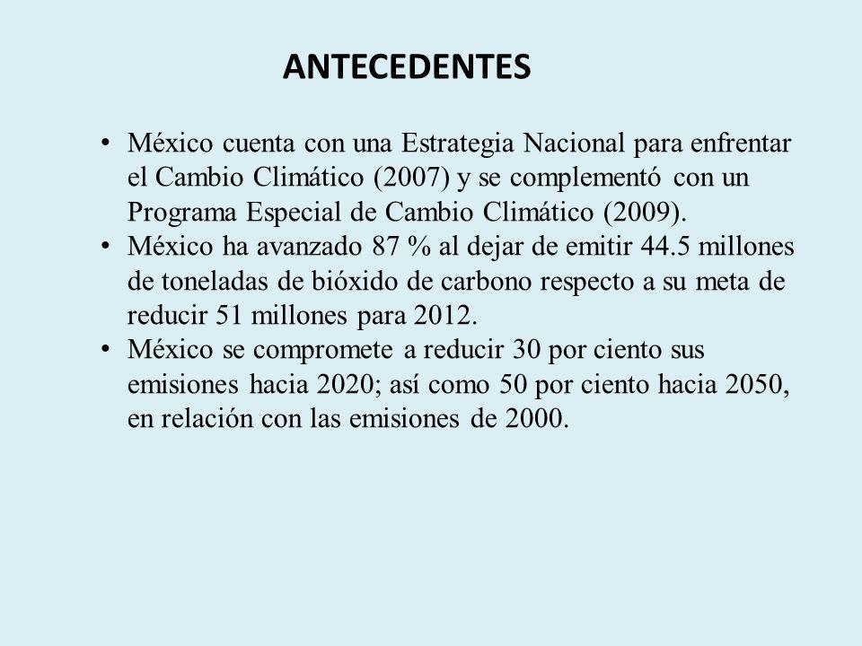Firma de la Ley de Cambio Climático 2012