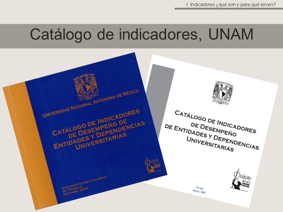 Catálogo de indicadores, UNAM I. Indicadores ¿qué son y para qué sirven?