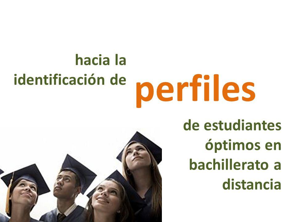 perfiles de estudiantes óptimos en bachillerato a distancia hacia la identificación de