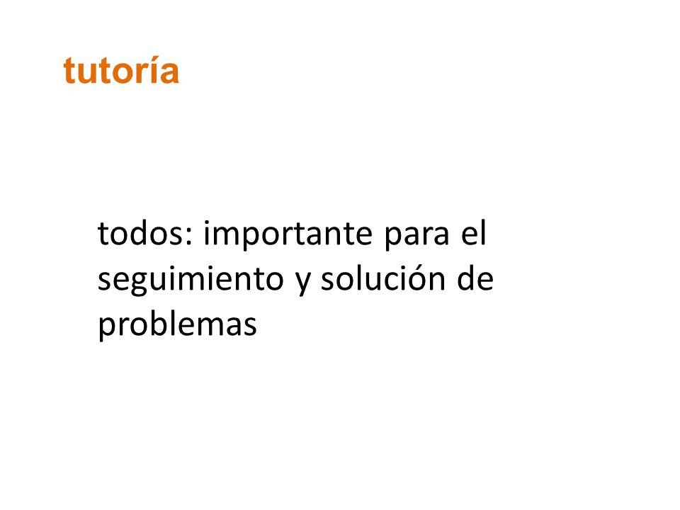 tutoría todos: importante para el seguimiento y solución de problemas