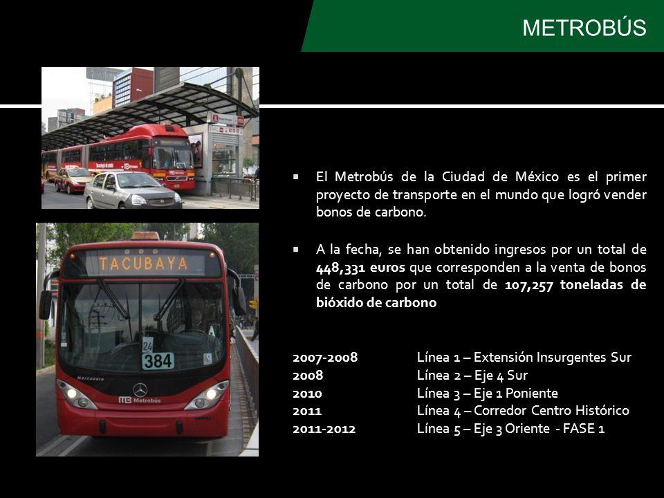 El Metrobús de la Ciudad de México es el primer proyecto de transporte en el mundo que logró vender bonos de carbono.