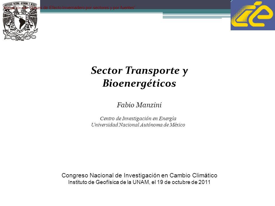 Resumen Sector Transporte Considerando únicamente el uso de etanol y biodiesel en el sector transporte mexicano, sería posible mitigar un 17% adicional al 26% obtenido con medidas de eficiencia energética, para un total de 43%.