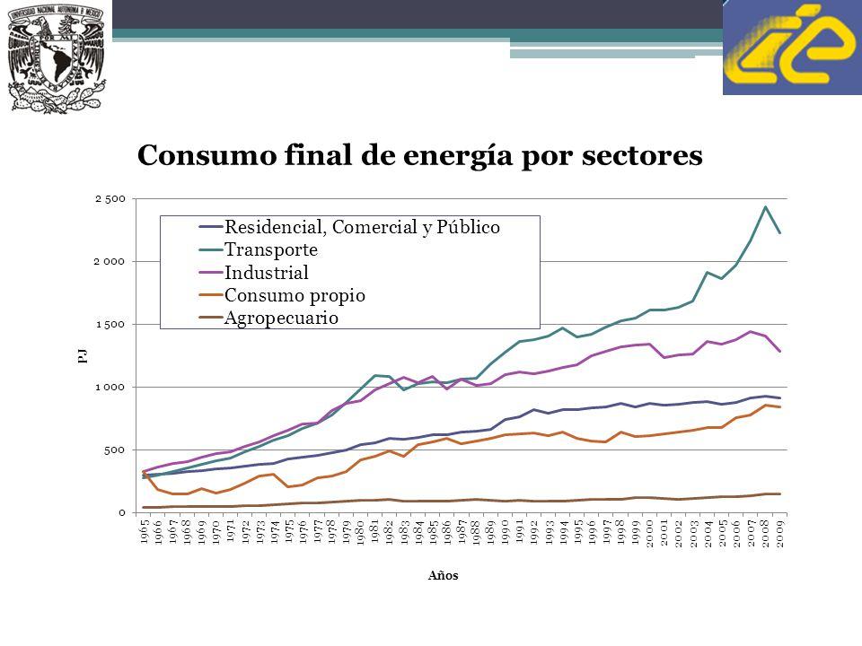 Contribución Actual de la Bioenergía 44 Renovables: 10%total, donde la biomasa y residuos tienen 5%, hidroelectricidad 4.5% y otras renovables 0.5% México