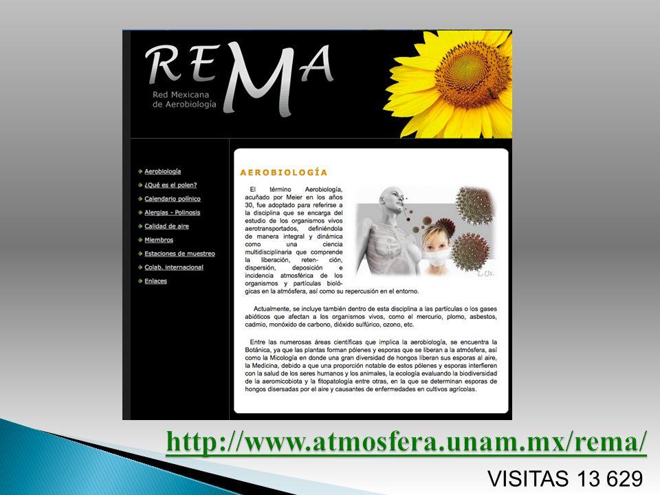 http://www.atmosfera.unam.mx/rema/ VISITAS 13 629