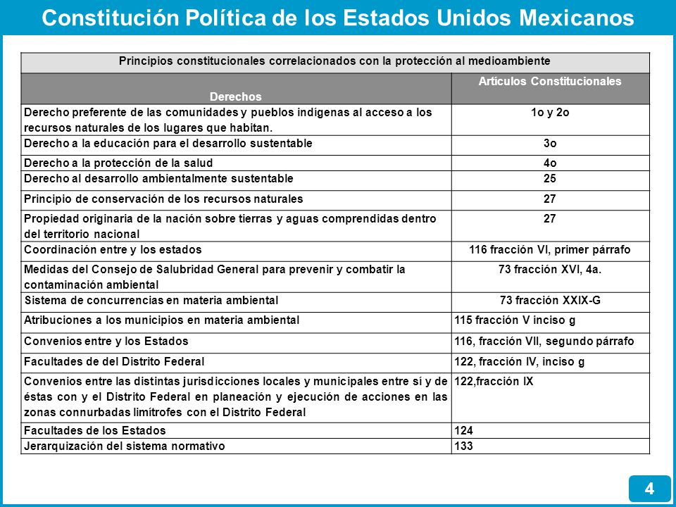 Principios constitucionales correlacionados con la protección al medioambiente Derechos Artículos Constitucionales Derecho preferente de las comunidad