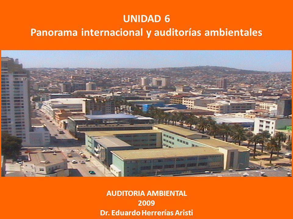 UNIDAD 6 Panorama internacional y auditorías ambientales AUDITORIA AMBIENTAL 2009 Dr. Eduardo Herrerías Aristi
