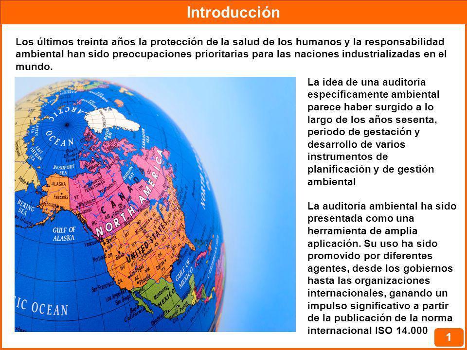 Normatividad Internacional 2 Estados Unidos, fue uno de los motores del desarrollo de la auditoría ambiental Los años ochenta, vieron el primer desarrollo metodológico de la auditoría ambiental y el inicio del cúmulo de experiencias prácticas.