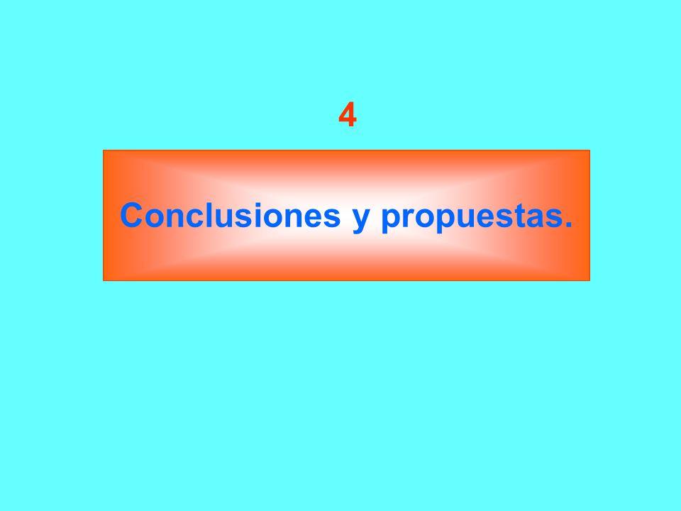 Conclusiones y propuestas. 4