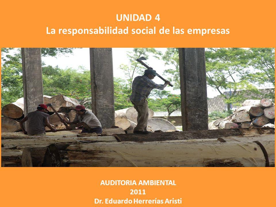 UNIDAD 4 La responsabilidad social de las empresas AUDITORIA AMBIENTAL 2011 Dr.