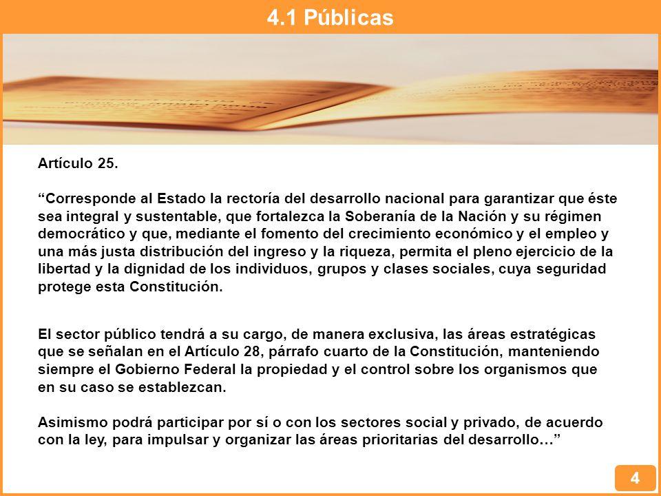 4.1 Públicas 4 Artículo 25.