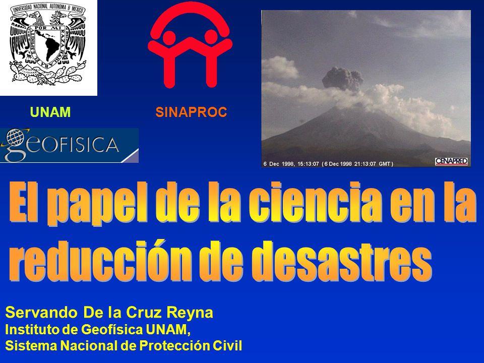 Servando De la Cruz Reyna Instituto de Geofísica UNAM, Sistema Nacional de Protección Civil SINAPROCUNAM