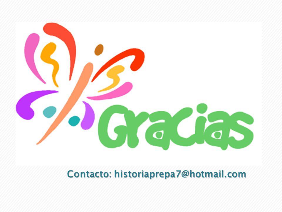 Contacto: historiaprepa7@hotmail.com