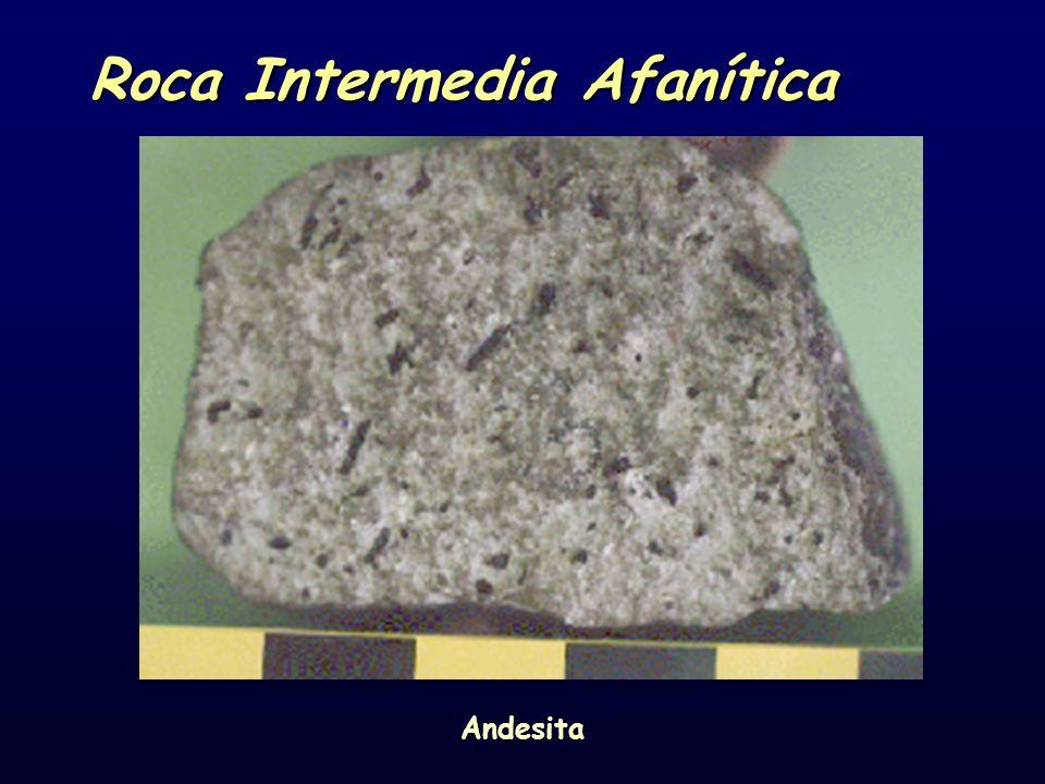 Roca Intermedia Afanítica Andesita