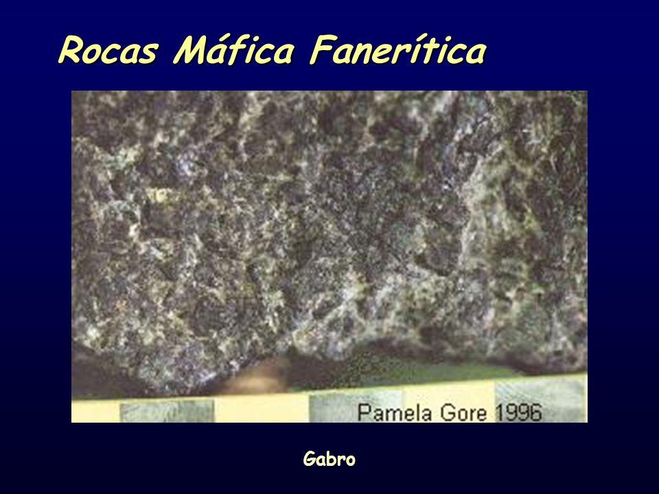 Rocas Máfica Fanerítica Gabro