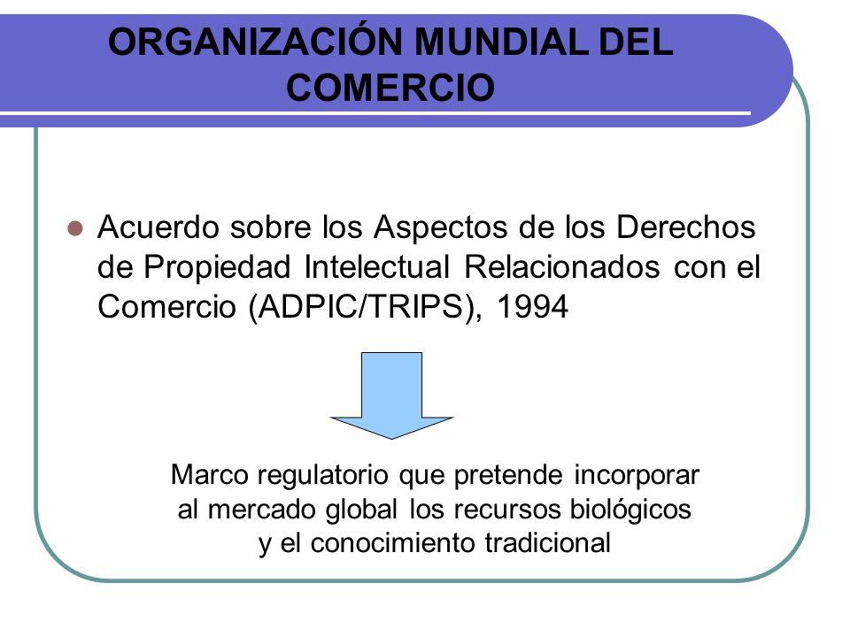 ORGANIZACIÓN MUNDIAL DEL COMERCIO Acuerdo sobre los Aspectos de los Derechos de Propiedad Intelectual Relacionados con el Comercio (ADPIC/TRIPS), 1994