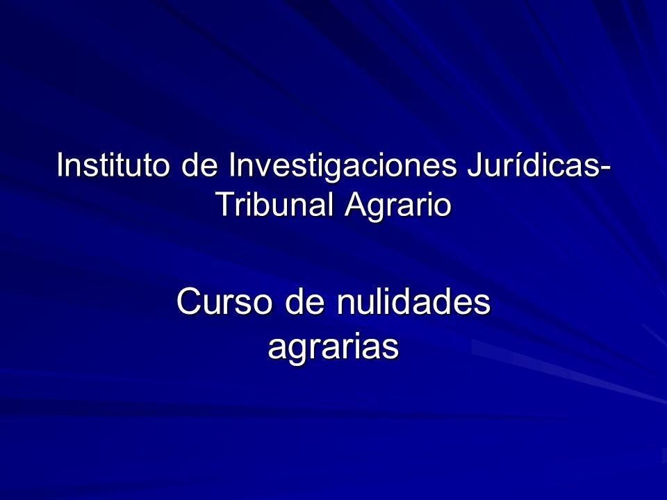 Instituto de Investigaciones Jurídicas- Tribunal Agrario Curso de nulidades agrarias