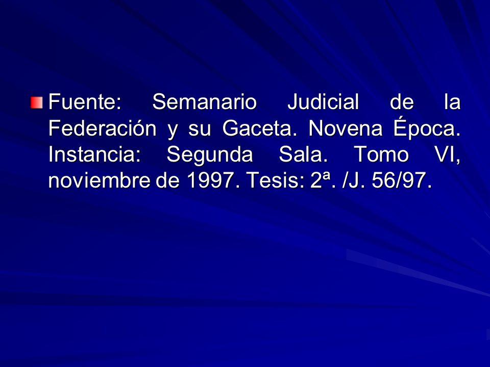 Fuente: Semanario Judicial de la Federación y su Gaceta.