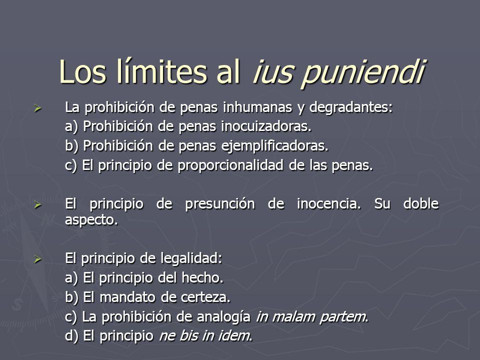 Los límites al ius puniendi La prohibición de penas inhumanas y degradantes: La prohibición de penas inhumanas y degradantes: a) Prohibición de penas