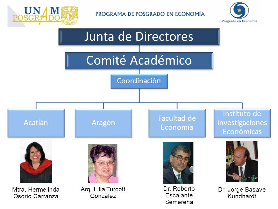 Dr. Roberto Escalante Semerena Mtra. Hermelinda Osorio Carranza Arq. Lilia Turcott González Dr. Jorge Basave Kundhardt