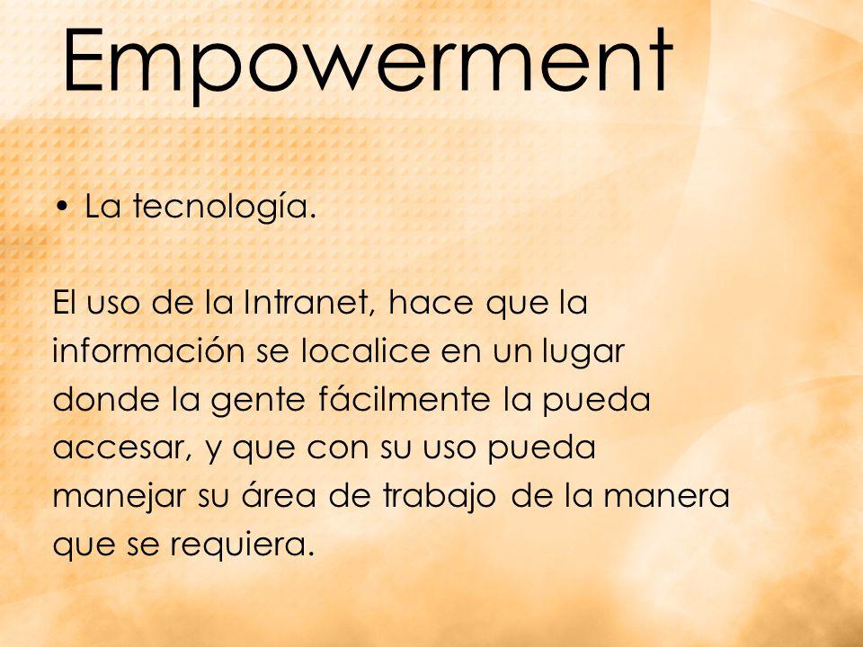 Empowerment La tecnología.