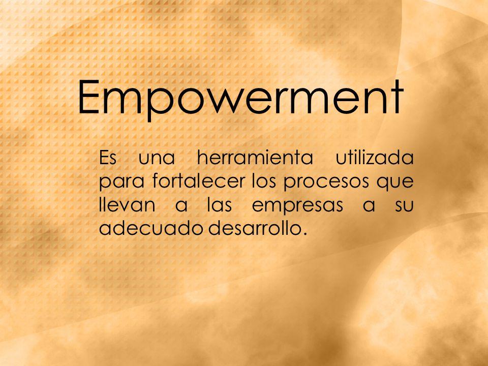 Empowerment Es una herramienta utilizada para fortalecer los procesos que llevan a las empresas a su adecuado desarrollo.