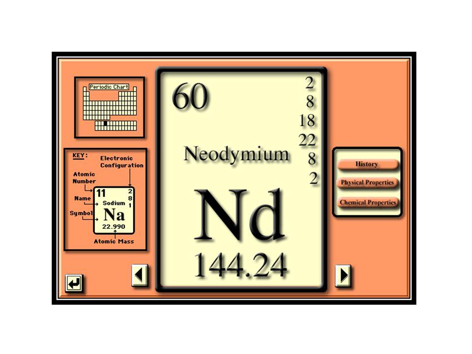 La abundancia de Nd en el sistema solar es de 8.36x10 -1 átomos de Nd por 10 6 átomos de Si.