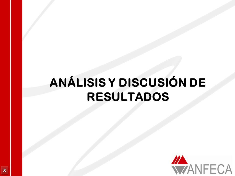 XXXX XXXX ANÁLISIS Y DISCUSIÓN DE RESULTADOS