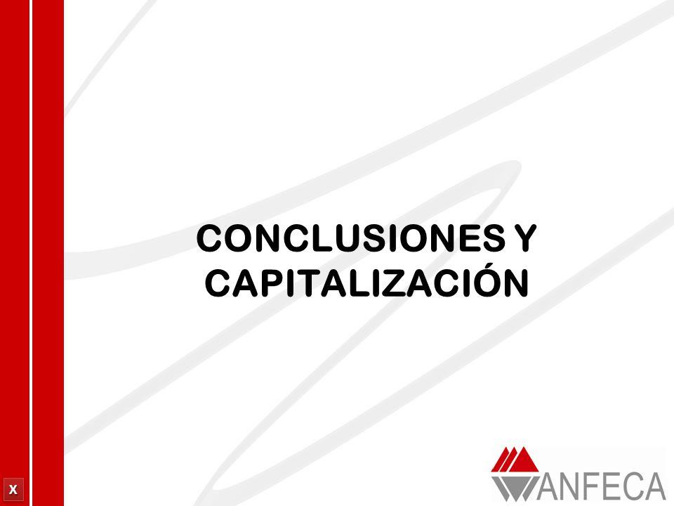 XXXX XXXX CONCLUSIONES Y CAPITALIZACIÓN