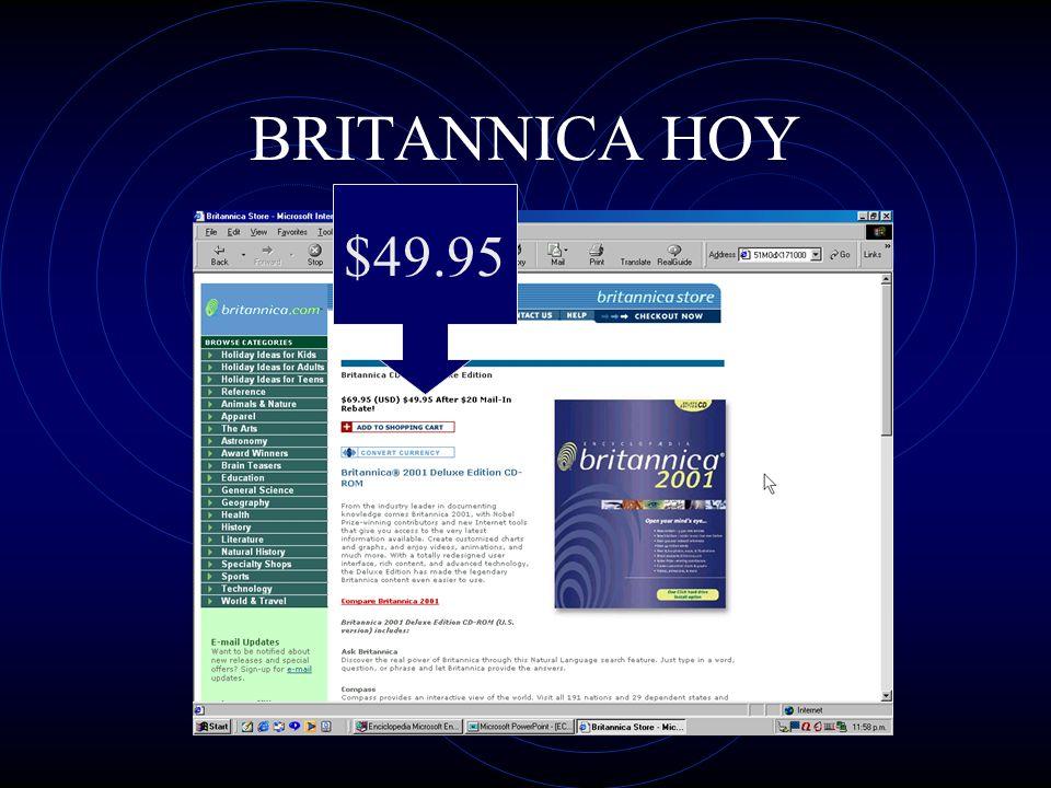 $49.95 BRITANNICA HOY