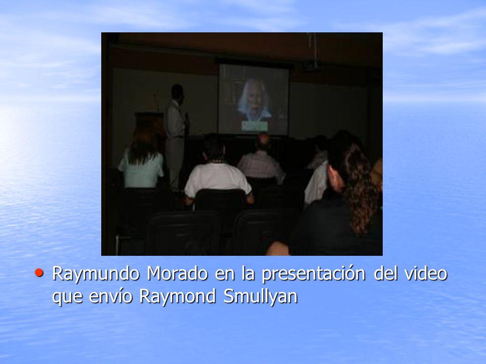 Raymundo Morado en la presentación del video que envío Raymond Smullyan Raymundo Morado en la presentación del video que envío Raymond Smullyan