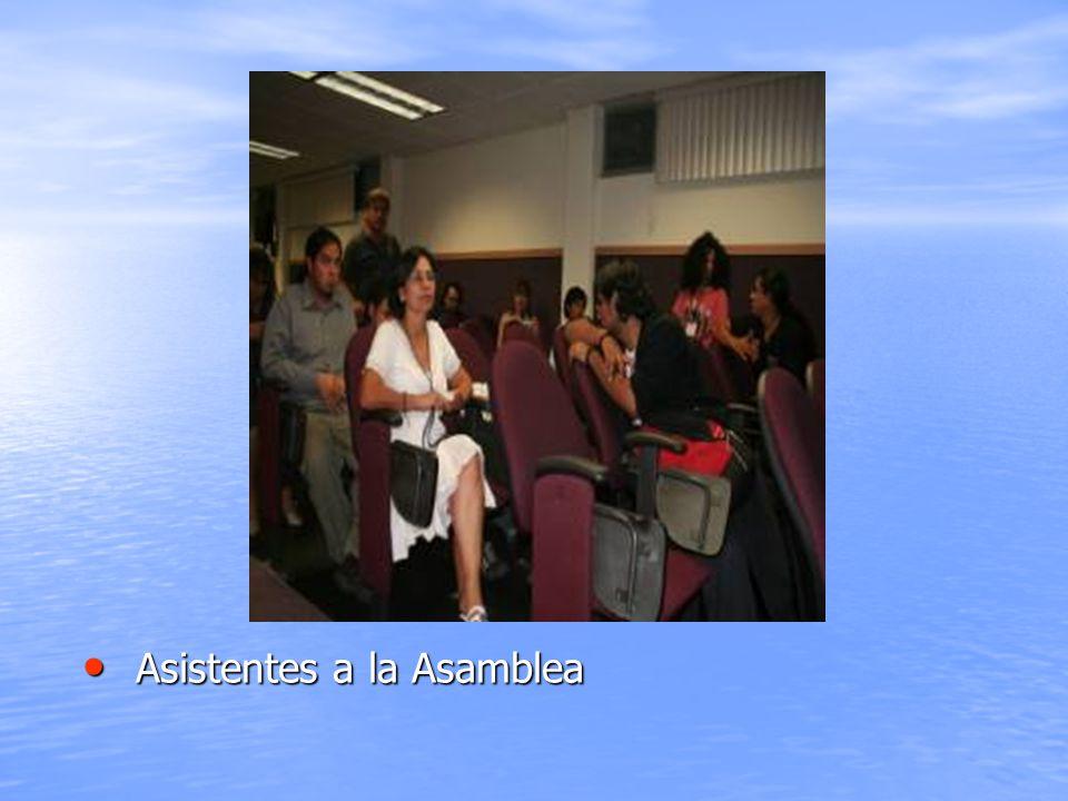 Asistentes a la Asamblea Asistentes a la Asamblea