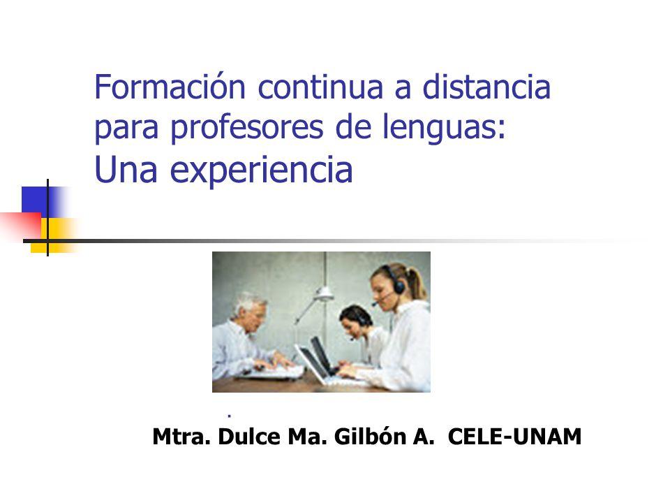 El CELE-UNAM ofrece el Diplomado ALAD en línea Consta de seis módulos Cuenta con tutoras especialistas en los contenidos de cada módulo Su plataforma ha sido desarrollada ex profeso para el programa El modelo didáctico es producto de la investigación realizada a la fecha