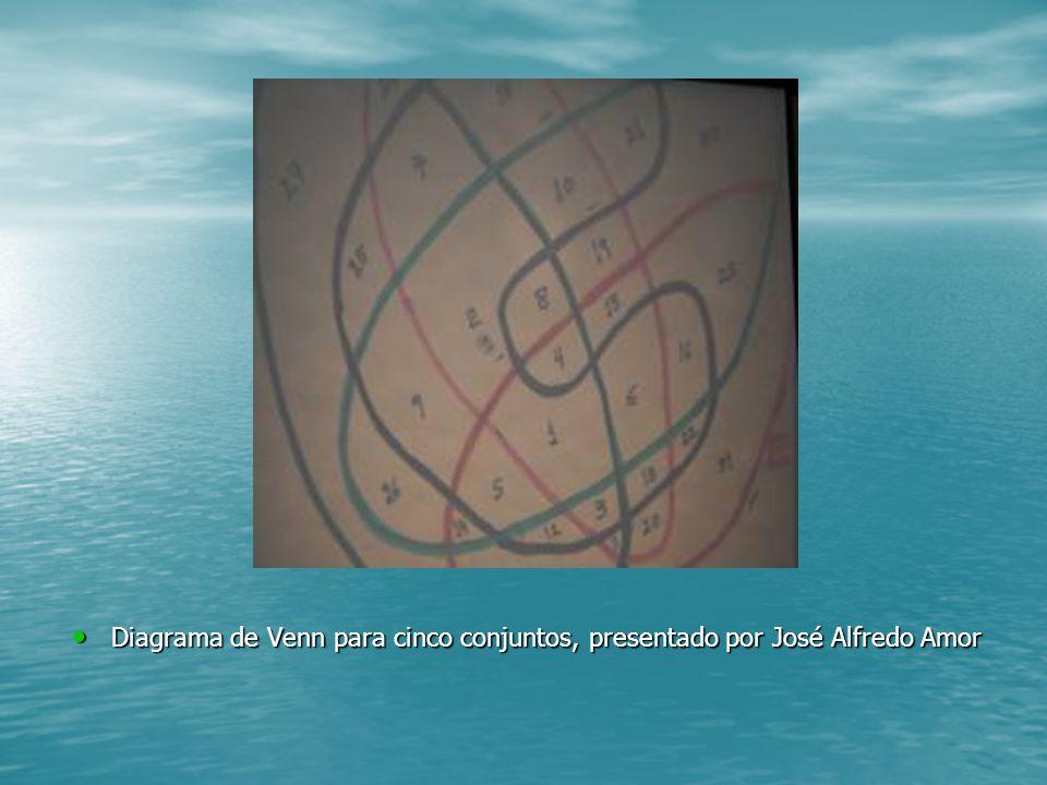 Diagrama de Venn para cinco conjuntos, presentado por José Alfredo Amor Diagrama de Venn para cinco conjuntos, presentado por José Alfredo Amor