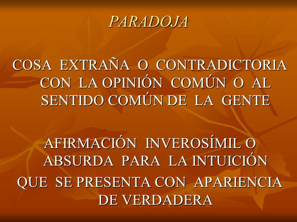 Las paradojas son resultados contrarios a la opinión común.