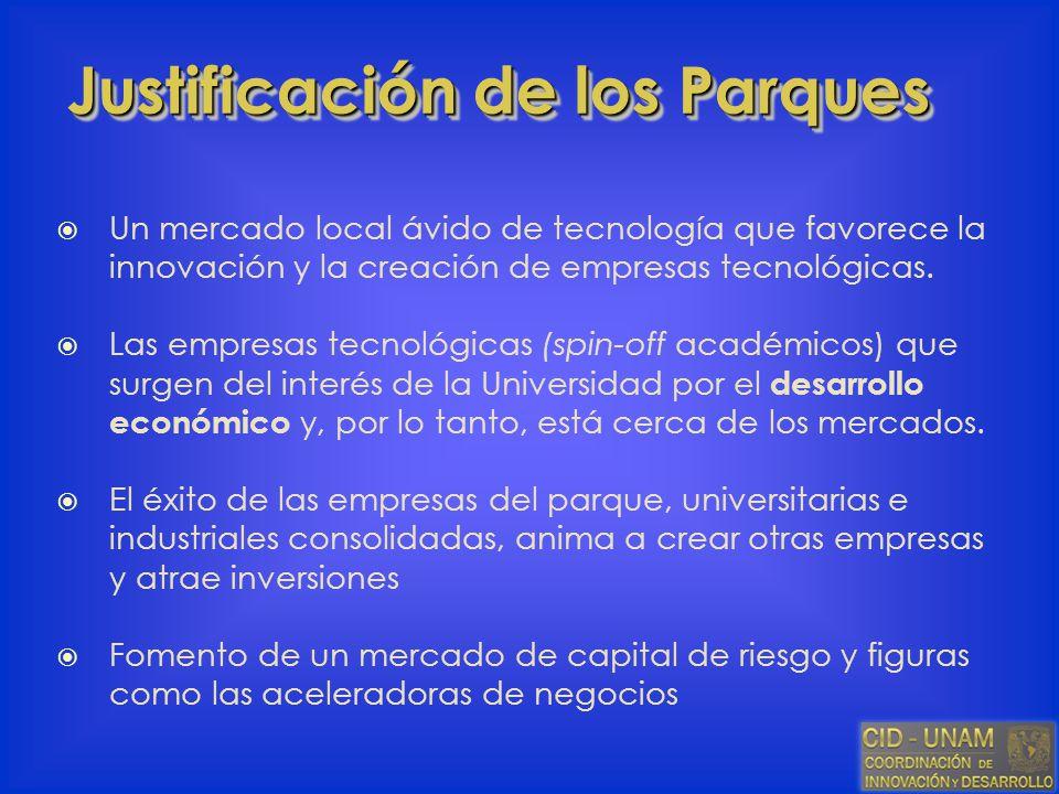 Un mercado local ávido de tecnología que favorece la innovación y la creación de empresas tecnológicas. Las empresas tecnológicas (spin-off académicos