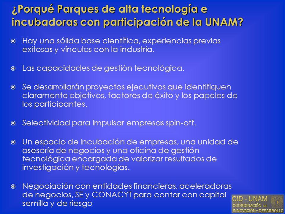 Hay una sólida base científica, experiencias previas exitosas y vínculos con la industria. Las capacidades de gestión tecnológica. Se desarrollarán pr