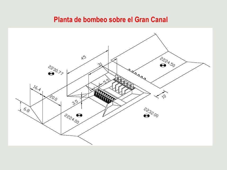 Planta de bombeo sobre el Gran Canal