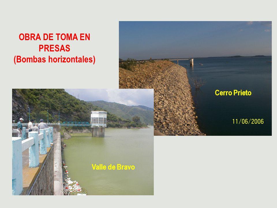 OBRA DE TOMA EN PRESAS (Bombas horizontales) Valle de Bravo Cerro Prieto