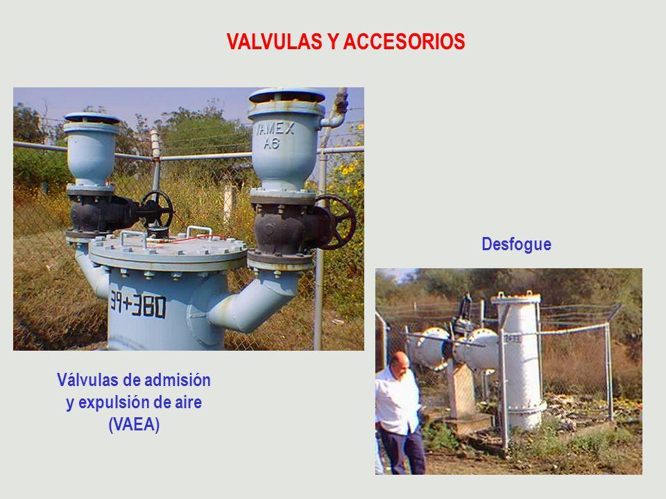 VALVULAS Y ACCESORIOS Desfogue Válvulas de admisión y expulsión de aire (VAEA)
