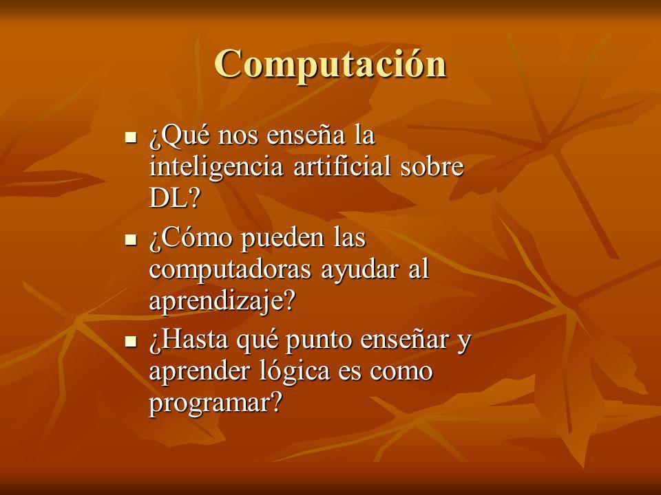 Computación ¿Qué nos enseña la inteligencia artificial sobre DL? ¿Qué nos enseña la inteligencia artificial sobre DL? ¿Cómo pueden las computadoras ay