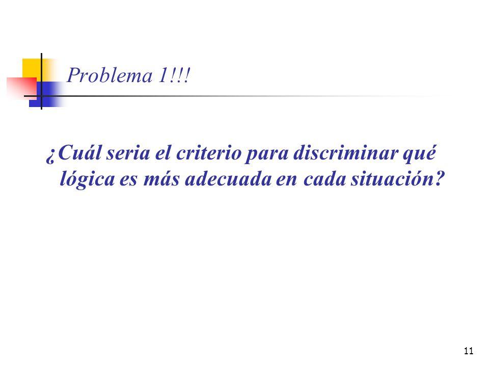 11 Problema 1!!! ¿Cuál seria el criterio para discriminar qué lógica es más adecuada en cada situación?