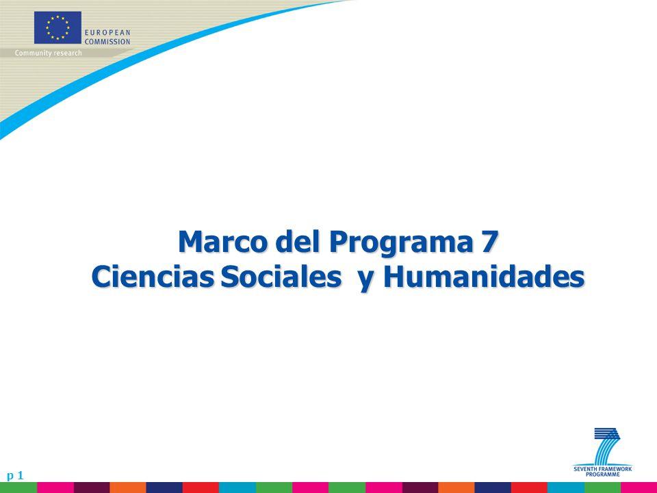 p 1 Marco del Programa 7 Ciencias Sociales y Humanidades