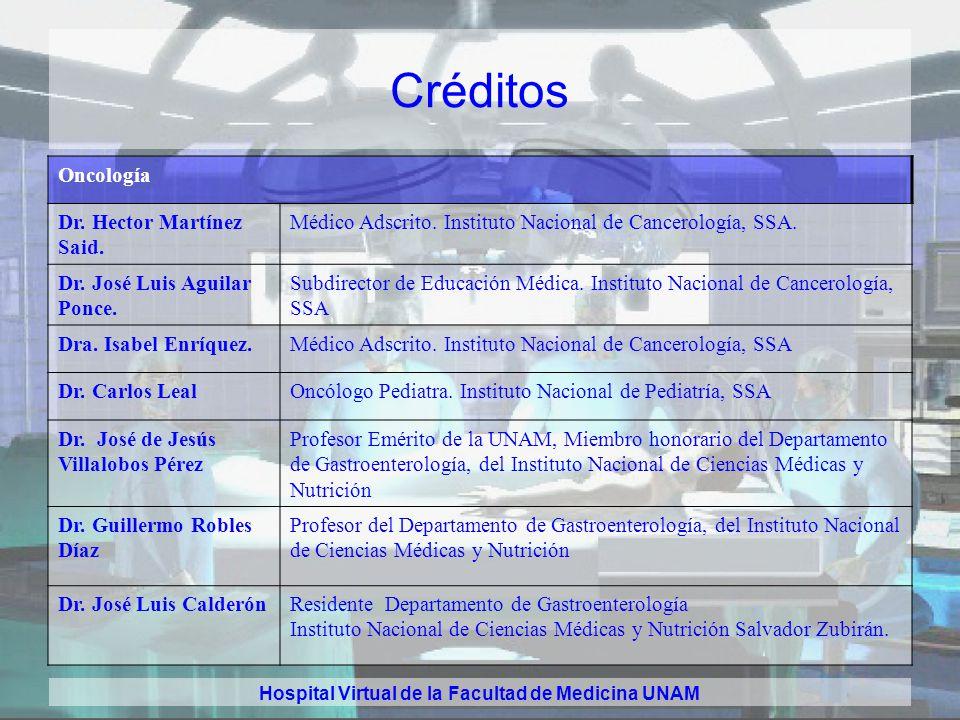 Hospital Virtual de la Facultad de Medicina UNAM Créditos Ginecología y obstetricia Dra. Rocío Medrano Arellano Médico Residente, Departamento de Gine