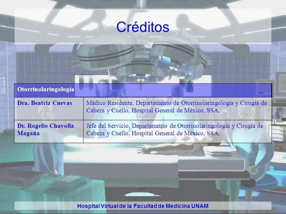 Hospital Virtual de la Facultad de Medicina UNAM Créditos Oncología Dr. Hector Martínez Said. Médico Adscrito. Instituto Nacional de Cancerología, SSA