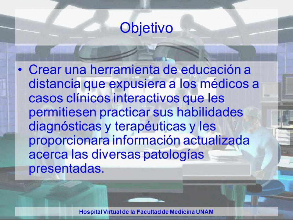 Hospital Virtual de la Facultad de Medicina UNAM El Hospital Virtual de la Facultad de Medicina UNAM Dr. Carlos A. Medina Dra. Paulina Salazar Sosa Dr