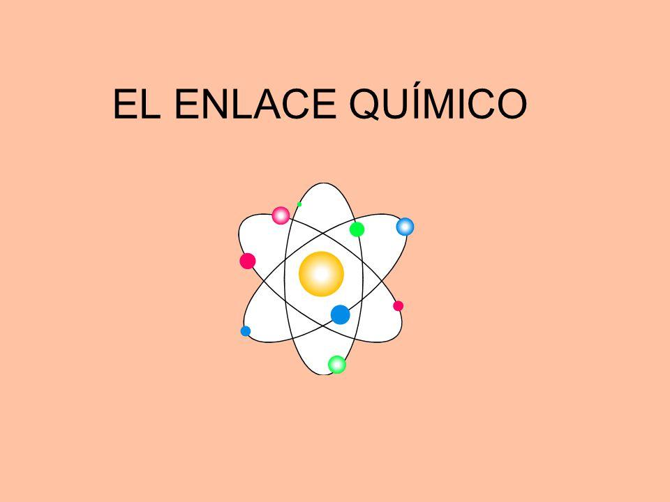 Los átomos se enlazan porque tienen tendencia a adquirir configuración estable, es decir: 8 electrones en su último nivel de energía Los gases nobles no se enlazan porque ya tienen configuración estable, su molécula es monoatómica