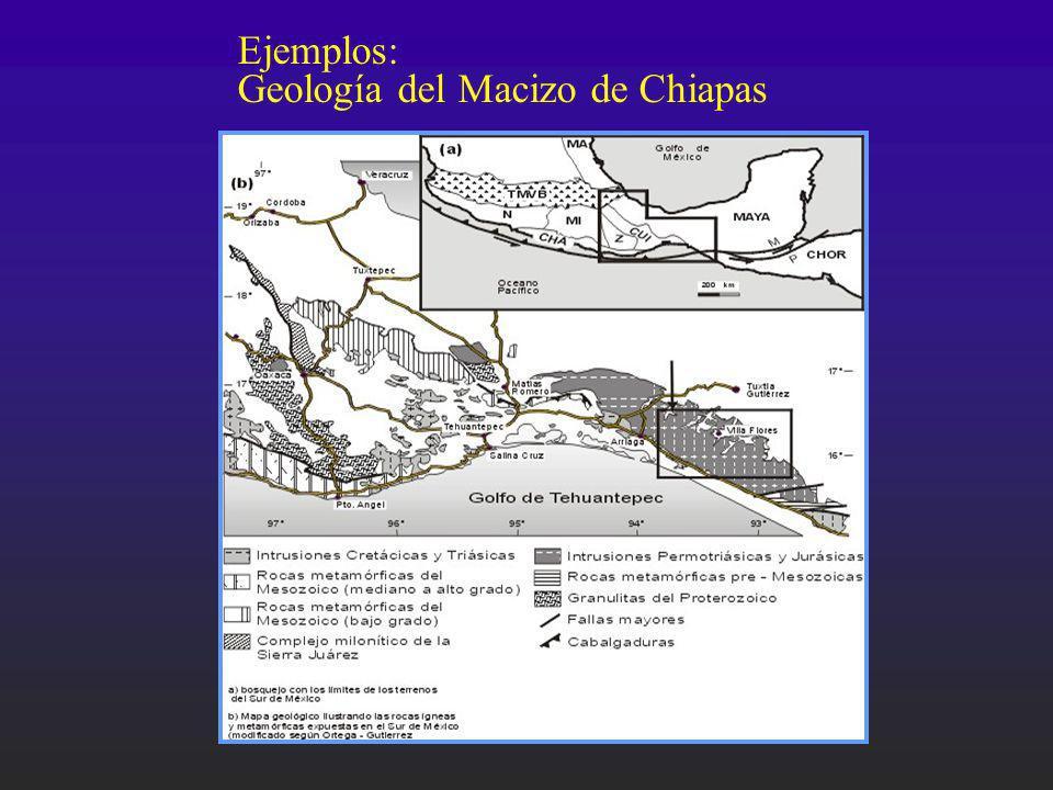 Ejemplos: Geología del Macizo de Chiapas