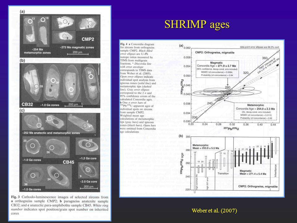 Weber et al. (2007) SHRIMP ages